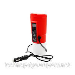 Автомобильная смарт-термокружка SUNROZ Smart Mug с подогревом и контролем температуры 380 мл Красный (SUN1128)