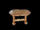 Деревянный стол кухонный овальный обеденный раздвижной, фото 3