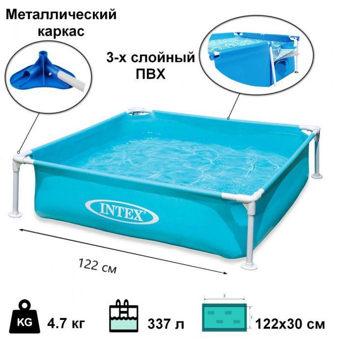Дитячий каркасний басейн Intex 57173 NP Mini Frame дитячий басейн intex інтекс каркасний басейн для дачі
