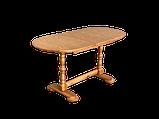 Дерев'яний стіл кухонний овальний обідній розсувний, фото 5
