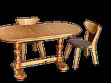 Дерев'яний стіл кухонний овальний обідній розсувний, фото 7