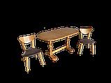 Дерев'яний стіл кухонний овальний обідній розсувний, фото 8