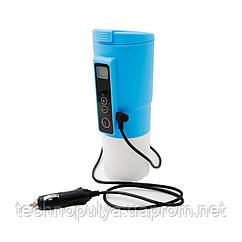 Автомобильная смарт-термокружка SUNROZ Smart Mug с подогревом и контролем температуры 380 мл Синий (SUN1125)