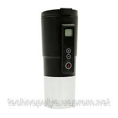 Автомобильная смарт-термокружка SUNROZ Smart Mug с подогревом и контролем температуры 380 мл Черный (SUN1126)