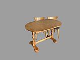 Деревянный стол кухонный овальный обеденный раздвижной, фото 9