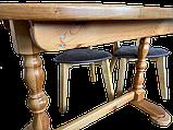 Деревянный стол кухонный овальный обеденный раздвижной, фото 10