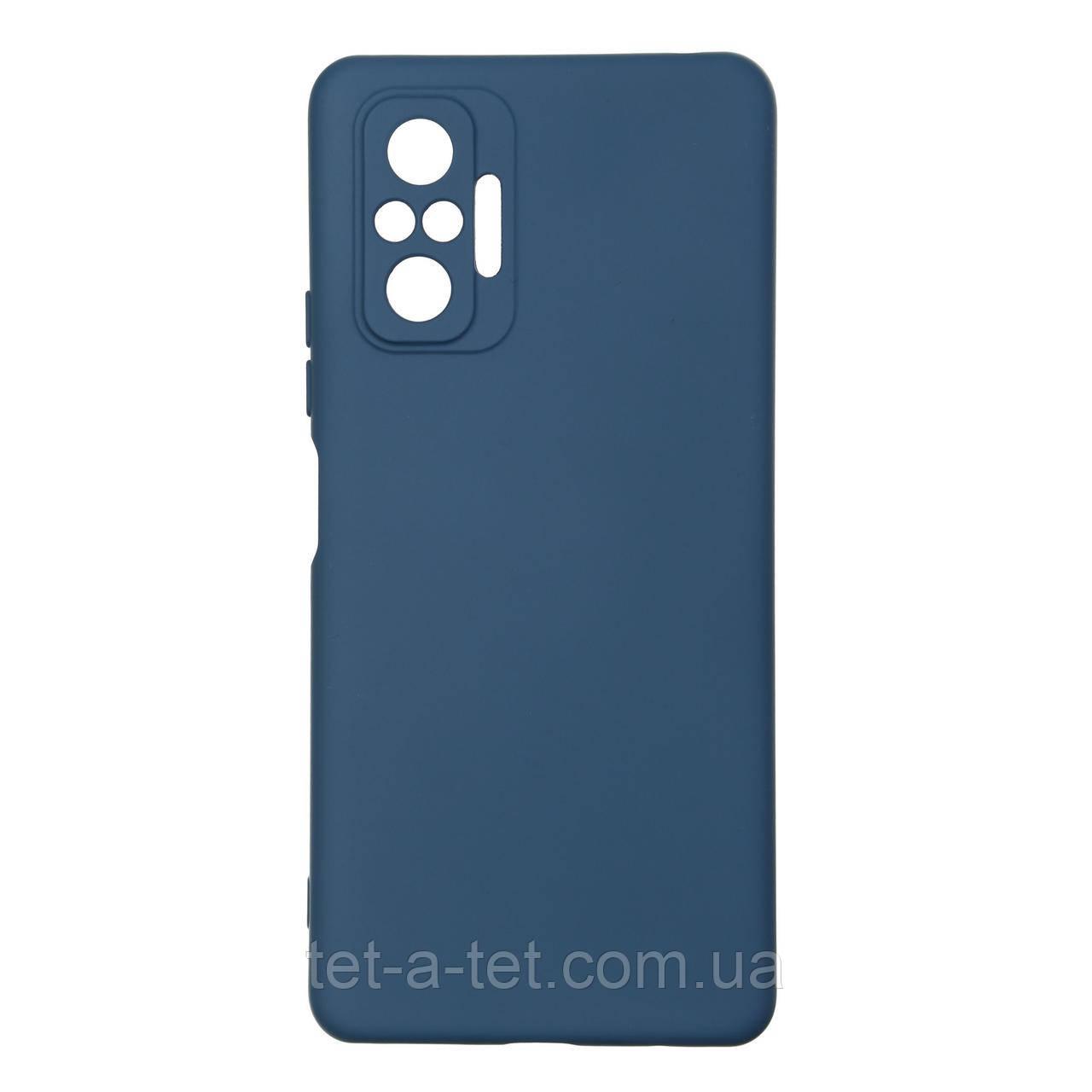 Силіконовий чохол ICON Case for Xiaomi Redmi Note 10 Pro Dark Blue (Темно-Синій)