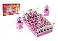 """Набор кукольной мебели Gloria 99001 """"Спальня"""" со светом, кровать, тумбы, светильник Т, фото 3"""