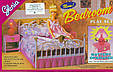 """Набор кукольной мебели Gloria 99001 """"Спальня"""" со светом, кровать, тумбы, светильник Т, фото 4"""