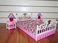 """Набор кукольной мебели Gloria 99001 """"Спальня"""" со светом, кровать, тумбы, светильник Т, фото 6"""