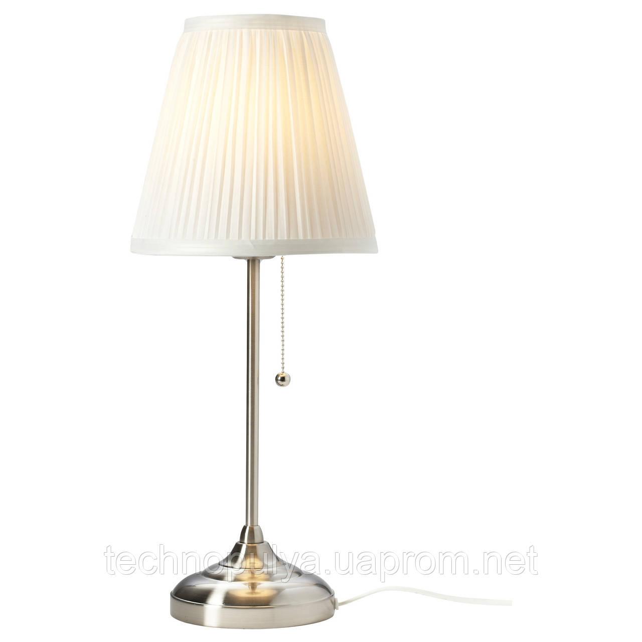 Настольная лампа IKEA ARSTID никелированная Белый (702.806.34)