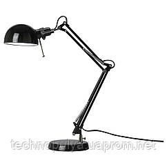 Настольная лампа рабочая IKEA FORSA Черная (001.467.76)