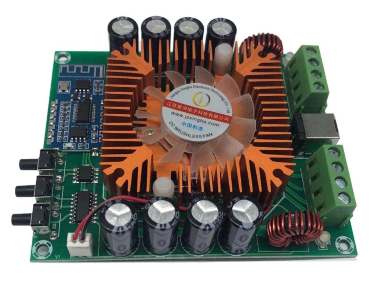 Аудио усилитель TDA7850H 4х50Вт 12-14,4В Bluetooth 5.0