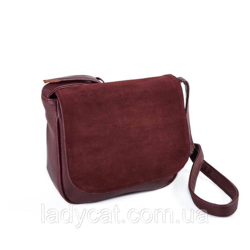 Замшевая сумка кросс-боди М52-38/замш