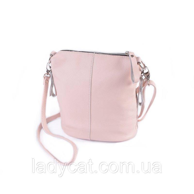 Жіноча шкіряна сумка через плече М246 pink