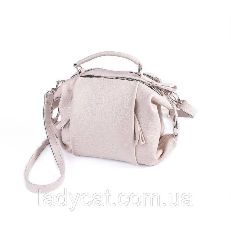 Женская кожаная сумка М269 beige