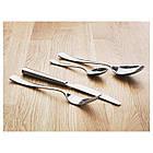 Набор столовых приборов IKEA SEDLIG 24 шт Серебристый (401.553.11), фото 3