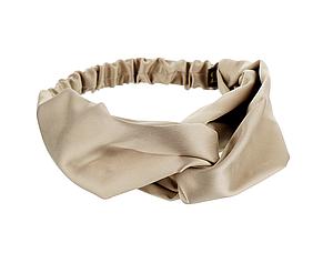 Сатиновая песочная повязка для волос