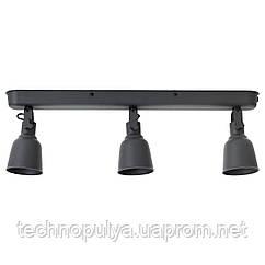 Потолочная рейка IKEA HEKTAR 3 лампы Темно-серый (502.974.85)
