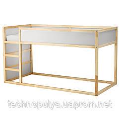 Двостороння дитяче ліжко IKEA KURA 90x200 см Світло-коричневий (802.538.09)