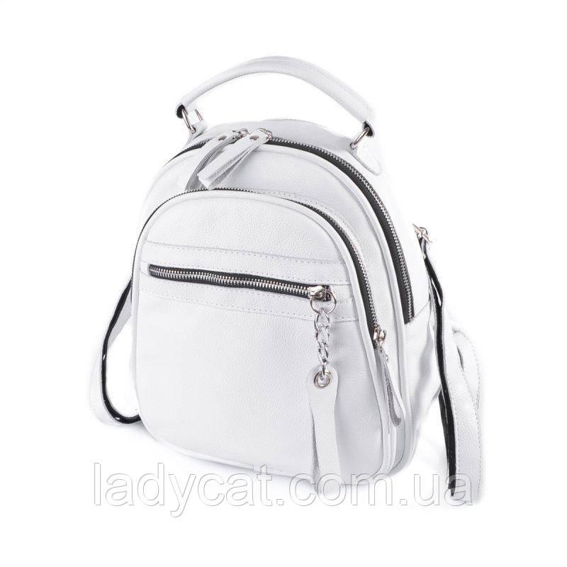 Шкіряний жіночий рюкзак М265 white