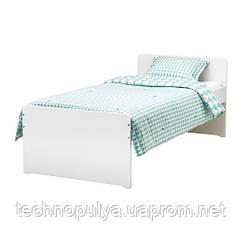 Каркас ліжка з рейковим дном IKEA SLÄKT 90x200 см Білий (792.277.55)