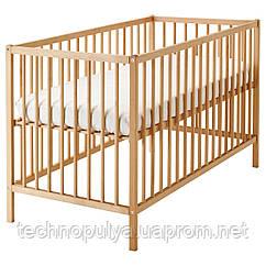 Дитяче ліжко IKEA SNIGLAR Коричневий (302.485.37)