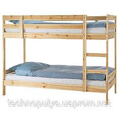 Каркас ліжка двох'ярусної IKEA MYDAL Світло-коричневий (001.024.52)