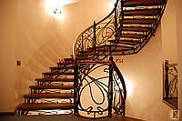Лестницы маршевые кованые