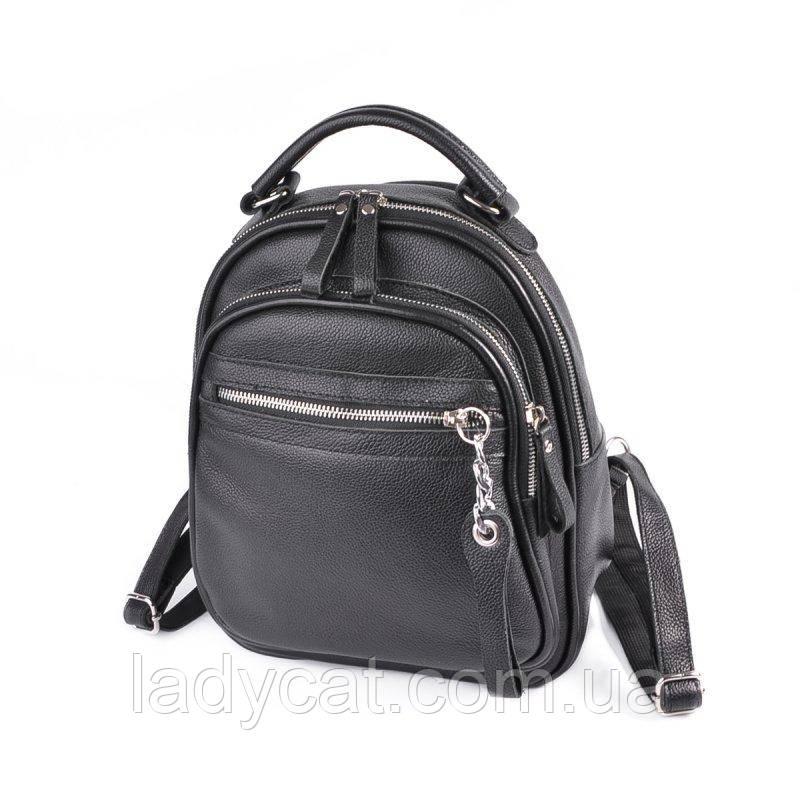 Шкіряний жіночий рюкзак М265 black