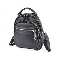 Шкіряний жіночий рюкзак М265 black, фото 1