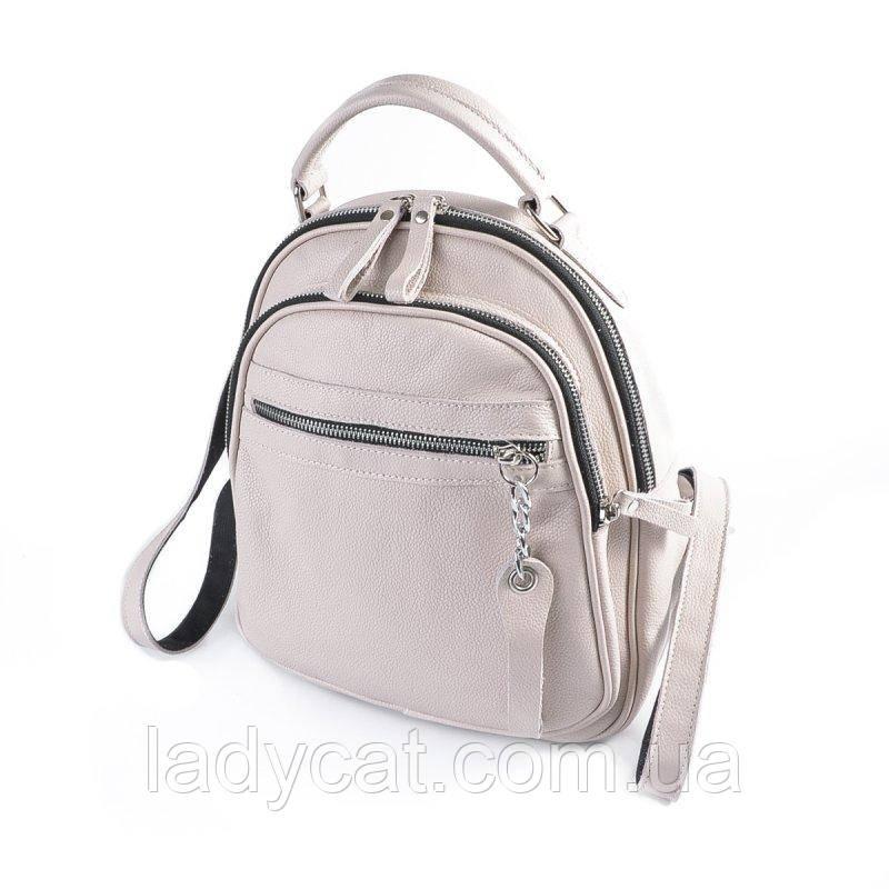 Кожаный женский рюкзак М265 beige