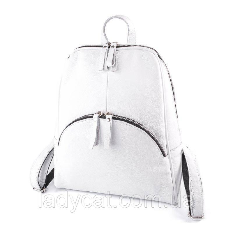 Женский кожаный рюкзак М135 white