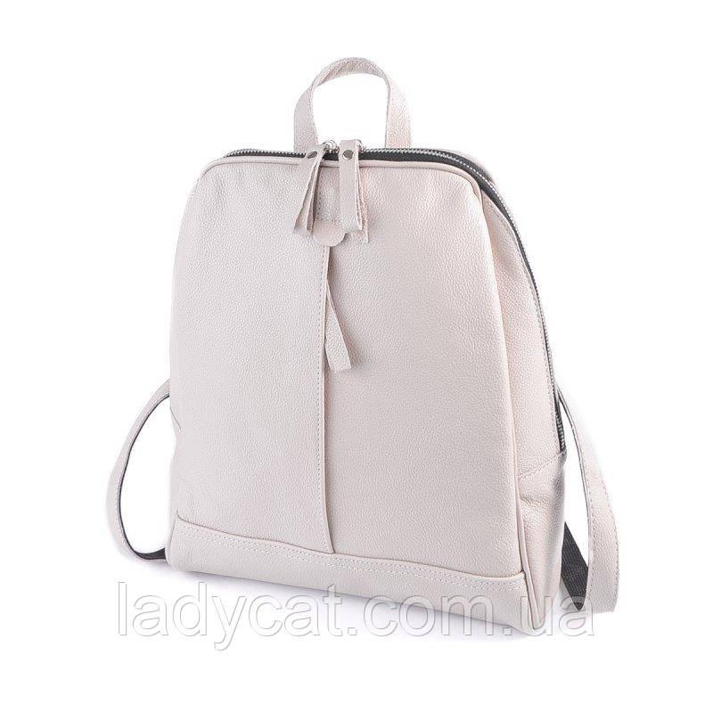Жіночий шкіряний рюкзак М260 beige