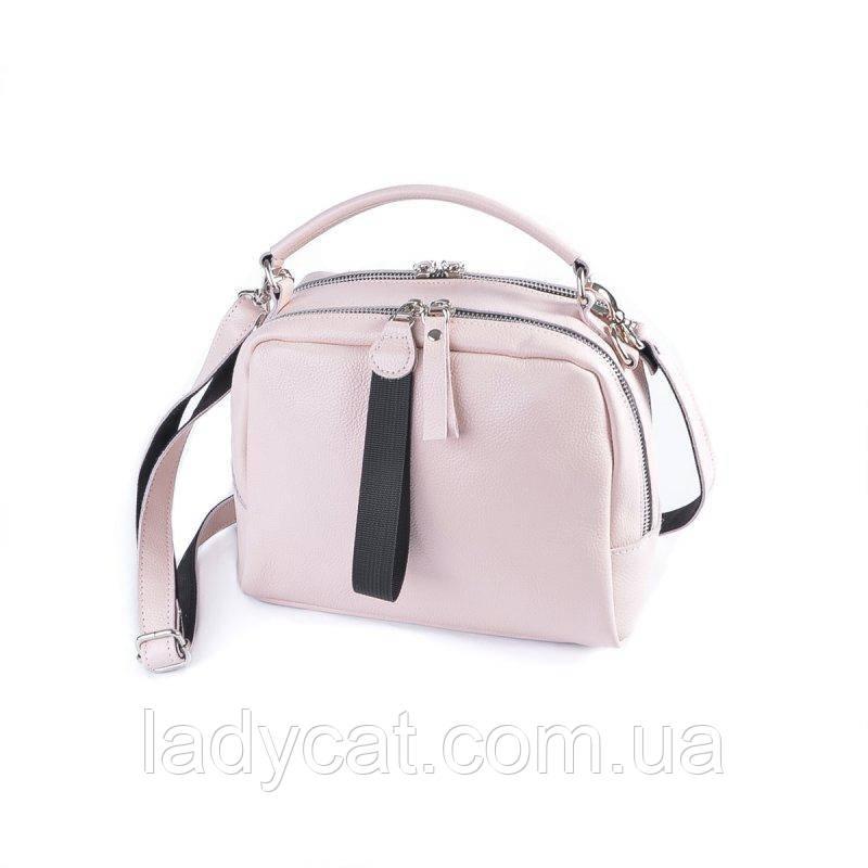 Жіноча шкіряна сумка М272 pink