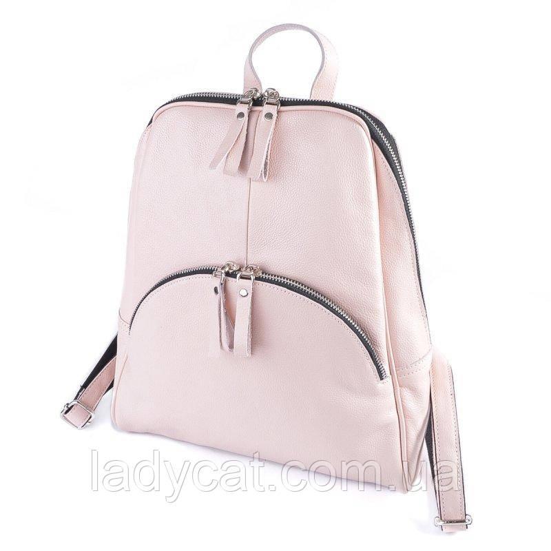 Жіночий шкіряний рюкзак М135 pink
