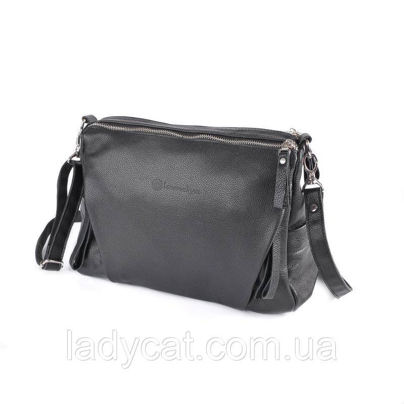 Женская кожаная сумка М274 black