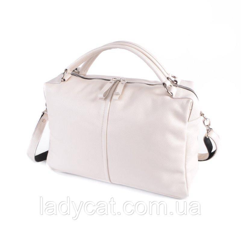 Жіноча шкіряна сумка М276 beige