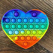 Сенсорная игрушка антистресс Pop It сердце сердечко игрушка поп ит pop it antistress пуш-ап поп пузырь