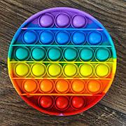 Сенсорная игрушка антистресс Pop It круглый радужный круг игрушка поп ит pop it antistress пуш-ап поп пузырь