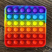 Сенсорная игрушка антистресс Pop It квадратный радужный игрушка поп ит pop it antistress пуш-ап поп пузырь