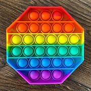 Сенсорная игрушка антистресс Pop It восьмиугольник радужный игрушка поп ит pop it antistress пуш-ап поп пузырь