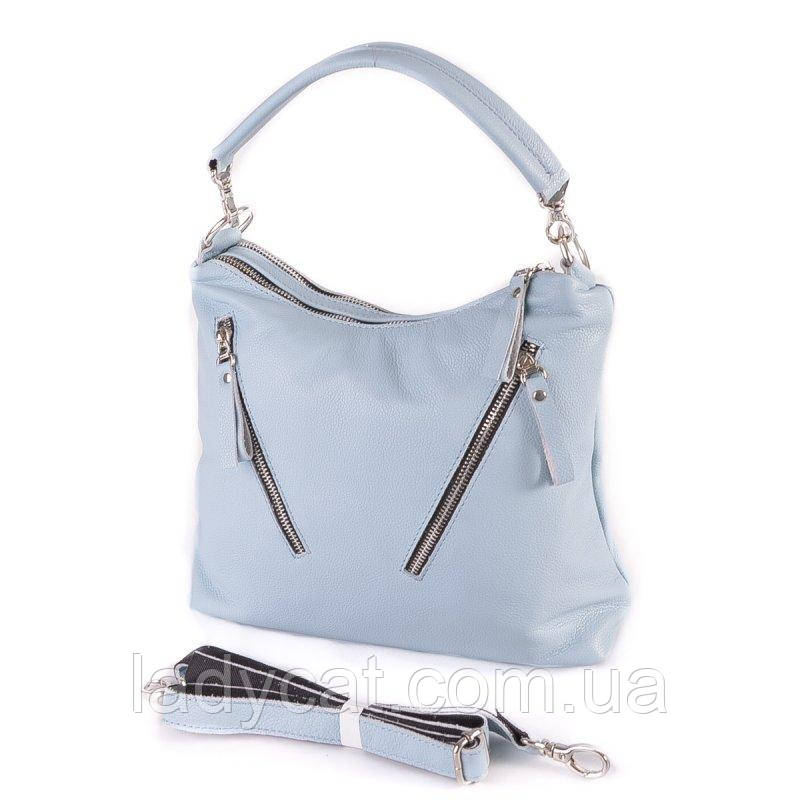 Жіноча шкіряна сумка М280 light blue