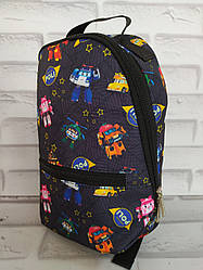 Рюкзак дитячий 30х20х8 см з внутрішнім відділенням і зовнішнім кишенею Р-1014