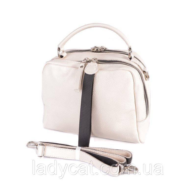 Жіноча шкіряна сумка М272 beige