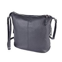 Кожаная сумочка с ремешком через плечо М268 black, фото 1