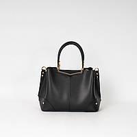 Черная женская сумка K02-20/1 деловая саквояж с ремешком через плечо и ручками три отделения, фото 1