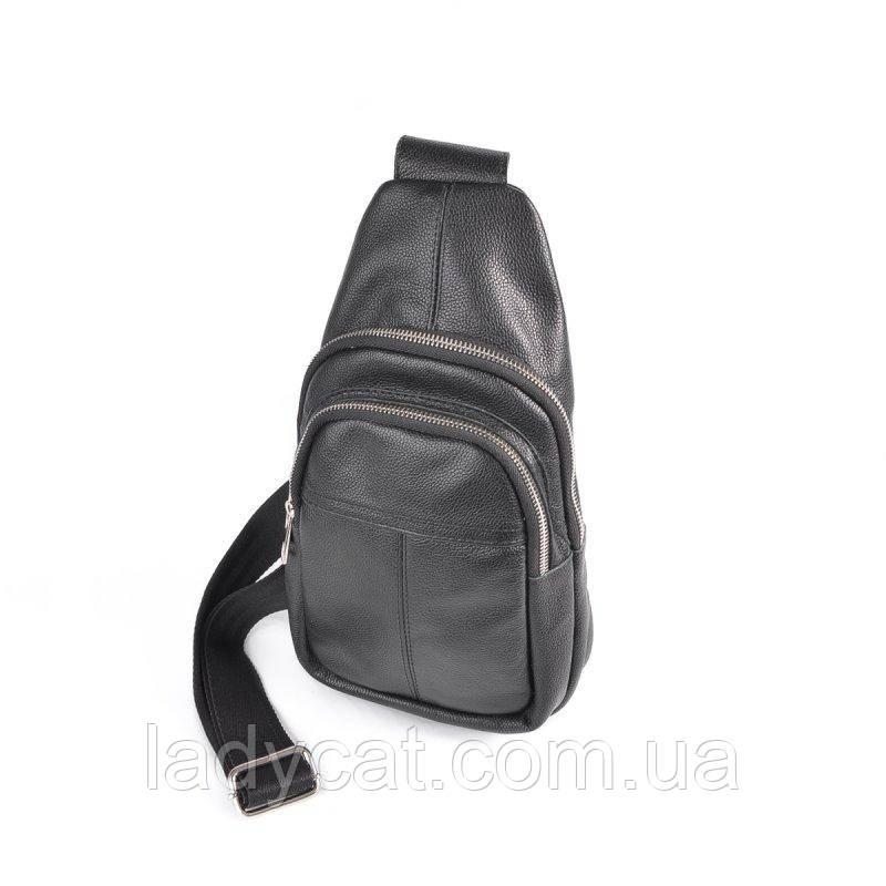 Шкіряна чоловіча сумка на плече 281