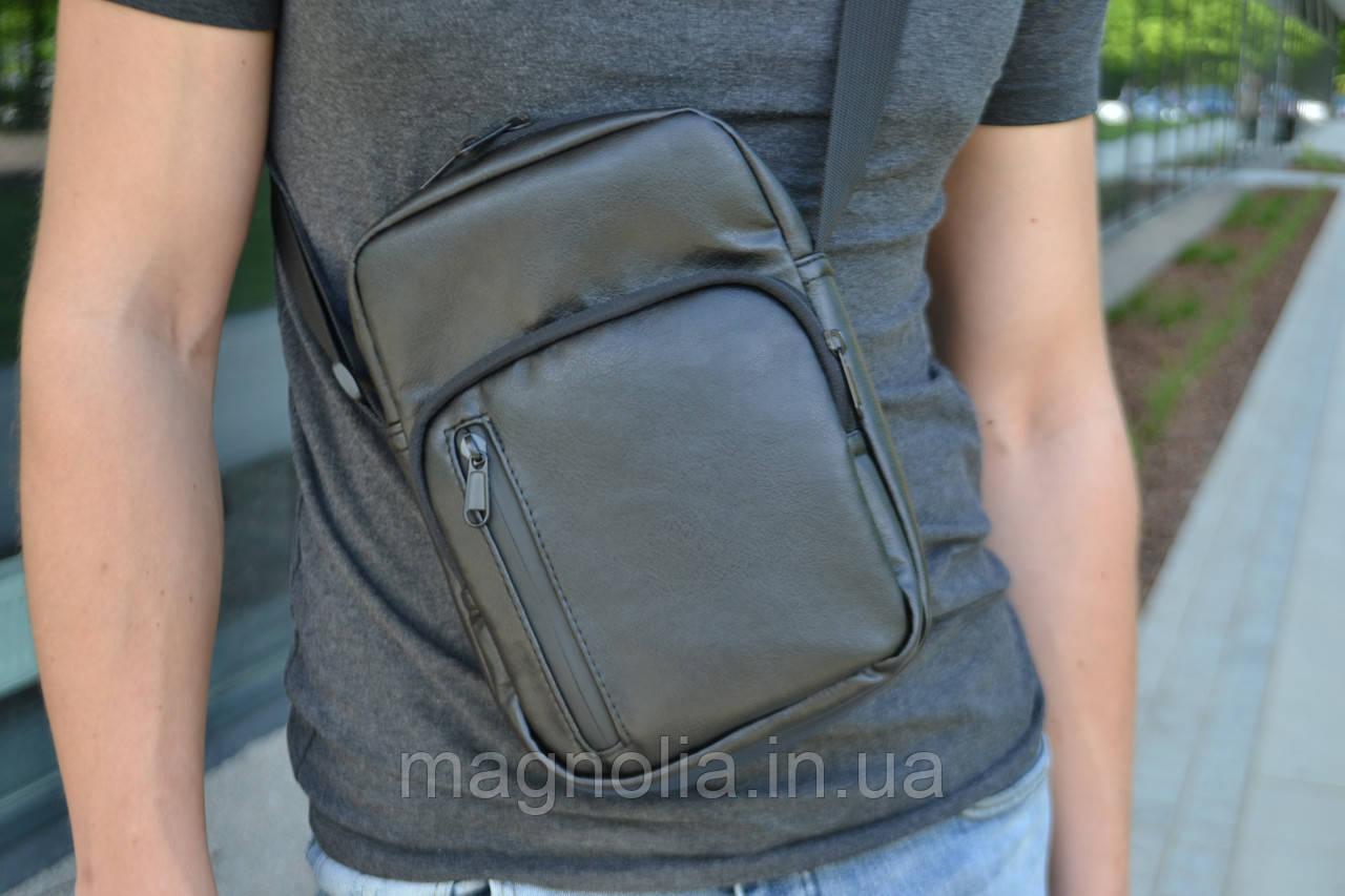 Мужская сумка мессенджер  / мужская сумка через плечо / Сумка чоловіча чорна / Барсетка