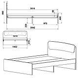 Двуспальная кровать Классика 140, фото 9